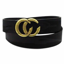 Unisex Call Me Baby Leather Belt Buckle style Fashion Business Casual Belt Black