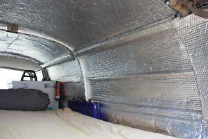 Insulation for camper van motorhome, double foil. 20m2 4 Rolls Free UK P&P