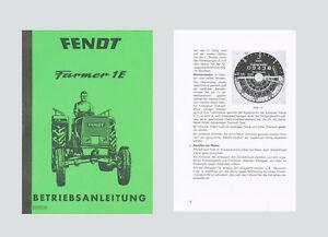 FENDT Farmer 1 E   (FL 131)    Betriebsanleitung Schlepper