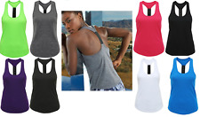 Womens TriDri® Performance Fitness Running Yoga Strap Racer Back Vest Tee Top XS