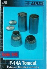 Aires 1/48  F-14A Tomcat Exhaust Nozzles Varied for Hasegawa kit # 4256