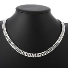 Solid Italian 925 Sterling Silver 4.5mm Cuban Curb Link Bracelet Chain Necklace