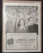 "1948 MIRACLE OF THE BELLS 10x14"" Movie Print Ad FN+ 6.5 Sinatra / Fred McMurray"