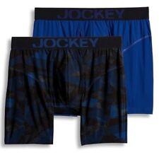 Jockey 2-Pack Dark Blue Athletic RapidCool Stretch Boxer Briefs Underwear