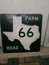 Vintage Retired Texas Farm Road Route 66 Highway Sign
