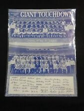 GIANT TOUCHDOWN Nov 1951 New York Giants By Number Name ALL 42 AUTOGRAPHS
