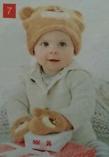 Tiny Tilla Bear Brown Soft Hat and Mitts for age 12-18 month