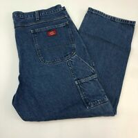 Dickies Denim Jeans Men's Size 42x30 Blue Straight Leg Multi-use Pocket Cotton