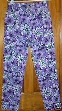 Dana Buchman Women's Pants Size 8 Purple & Black Flowers