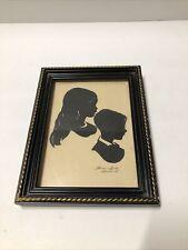 Wallie Spatz Vintage Silhouette of Children Picture 5x7