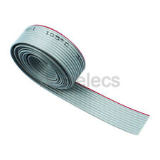 1m meter 10pin gray flat ribbon cable 1.27mm pitch for 2.54mm FC connectors
