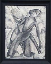 """Elisabeth Kudisch-Zuba (1902-1994) """"Two Figures"""", Drawing, ca.1930"""
