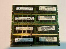 16GB (4x4GB) Samsung PC3-10600R 2Rx4 1.5v ECC Registered Server Memory DDR3