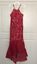 Lace Dress Size 16 Red Formal Maxi Dress