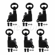 6pcs 3L3R Black Closed Guitar Tuning Pegs Parts for Folk Guitar 4x3.7cm