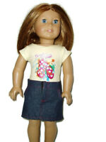 Beach Bound T-Shirt & Skirt fits American Girl Dolls 18 inch Doll Clothes