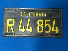 1963 californian number plate