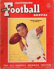 1946 Football Illustrated Annual magazine, Herman Wedemeyer, St. Mary's ~ Fair