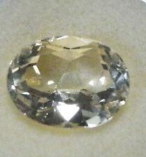 Pale lemon yellow citrine natural gemstone..5.35 Carat..12.5 x 10 x 7.6 mm gem