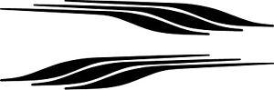 MOTORHOME/CARAVAN VINYL GRAPHICS DECALS STICKERS STRIPES CHOICE OF COLOURS #66XS