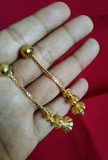 One gram gold plated ball earrings long  latkan earrings