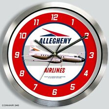 ALLEGHENY AIRLINES CONVAIR 240 WALL CLOCK 1960's 340 440