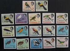 SCARCE 1963 Gambia set of Birds stamp inc. Self Govt O/P Mint