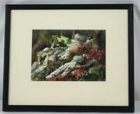 Vintage Natalie Fleming Landscape Original Watercolor ~ Signed Framed
