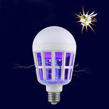 LED Anti-Mosquito Bulb 15W 1000LM 6500K Electronic Insect Fly Lure Kill Bulb E27