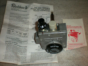 New Robertshaw 220RTSP 75-037-013 Water Heater Natural Gas Valve Thermostat