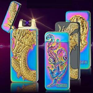 Heat Dual Arc Rechargeable USB Electric Plasma Windproof Lighter, USB LIGHTER.