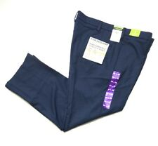 Haggar Men's In Motion Performance Straight Fit Stretch Pants Blue, Size 38x32