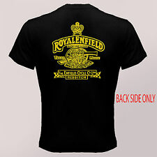 new Royal Enfield *Made like Gun Motorcycle Logo Black Men's T Shirt S to 3XL
