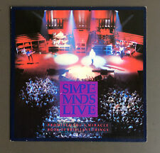 """SIMPLE MINDS - Promised You A Miracle Live  7"""" Vinyl Single Record GD Con 1987"""