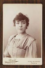 Mlle Thomsen, Actrice de théâtre, Photo Cabinet card, Van Bosch