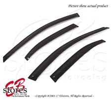 For Acura TSX 2004-2008 Outside-Mounted Dark Smoke JDM Window Visors 4pcs