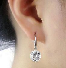 Silver Plated Dangle Earrings Rhinestone Crystal Stud Pierced Ears E146 UK Store