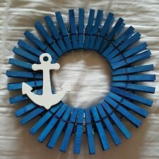 """10"""" hand crafted anchor wreath"""