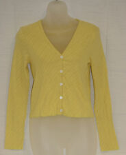 PETIT BATEAU Women's Yellow Long Sleeve Cardigan 94567 Sz 18 Large NWT $98
