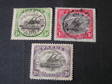 *PAPUA, SCOTT # 34-36(3), 1/2p+1p+2p VALUES 1907-08 LAKATOL ISSUE USED