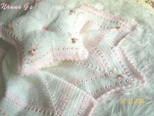 """""""Star Chal & almohada que empareja para bebé o reborn Pantalla. (Crochet instrucciones)"""