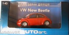 VW VOLKSWAGEN NEW BEETLE 1999 RED AUTOART 59734 1/43 ROSSO LH DRIVE ROSSO ROT