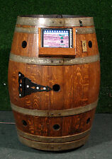 Jukebox in a wine barrel coin operated holds 5,000 songs in the playlist
