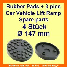 SET OF 4 PADS Ravaglioli 2 Post Car Lift Ramp Rubber Pads +3 pins-147mm -Italy-@