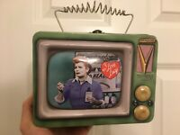 *AS IS* I Love Lucy Lunch Box VTG T.V. Set Shape Vandor Collector Tin*Read Full*