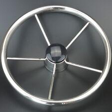 13-1/2'' Boat Steering Wheel Stainless Steel Mirror Polish 5 Spoke High Quality