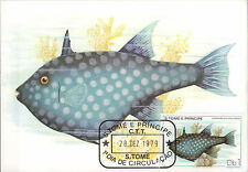 Set 7 MaxiCard Sao Tome and Principe 1979 Marine Life Fish maximum card