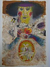 THEO TOBIASSE FRENCH ISRAELI LITHOGRAPH TERRAGRAPH NYC FEMALE NUDES APPLE 30X44
