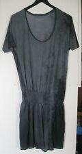 Zadig & Voltaire- Robe de plage/Tshirt- Tie Dye gris et noir - M