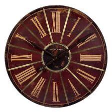 "IMAX Large 29"" Wall Clock 16077 Red Black Gold Roman Numeral Grand Hotel Paris"